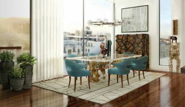 dining chairs How To Pick The Right Fabric Colour For Your Dining Chairs BRABBU VILLA dining room 2 600x350