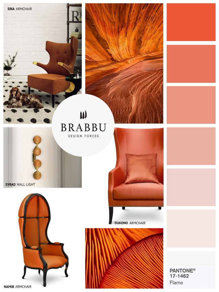 """6 Stylish Pantone Colors Chairs To Invite Pantone's """"Flame"""" In Your Interior"""