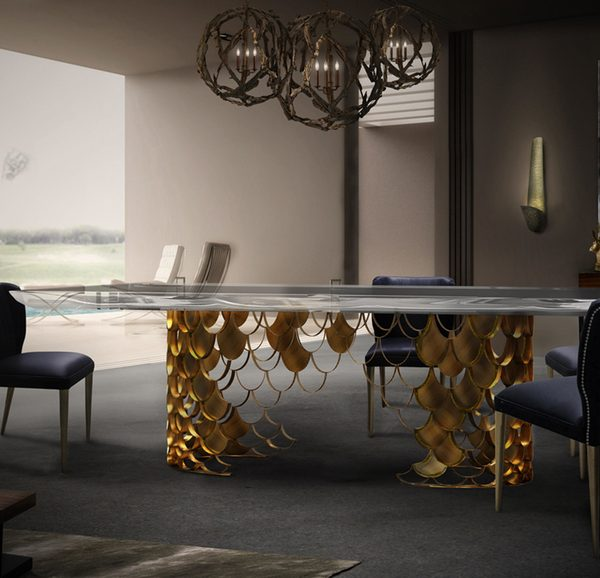 Top 10 Modern Chairs Exhibitors at Maison & Objet 2017 modern chairs Top 10 Modern Chairs Exhibitors at Maison & Objet 2017 koi dining table ii ambience b 600x578