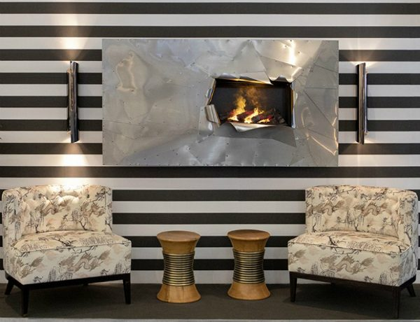 Modern Chairs The Best Modern Chairs You Can Take From Maison et Objet 2018 EruptionFireplace1 600x460