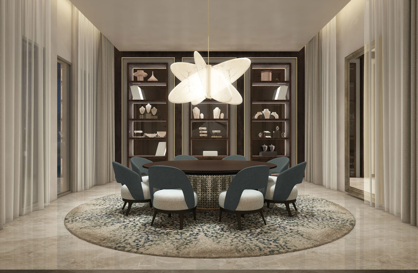 Dubai Interior Designers: The Top 10 Designers You Should Know About dubai interior designers Dubai Interior Designers: The Top 10 Designers You Should Know About Al Khan Palace Private Dining 03 6col 1410x921 1