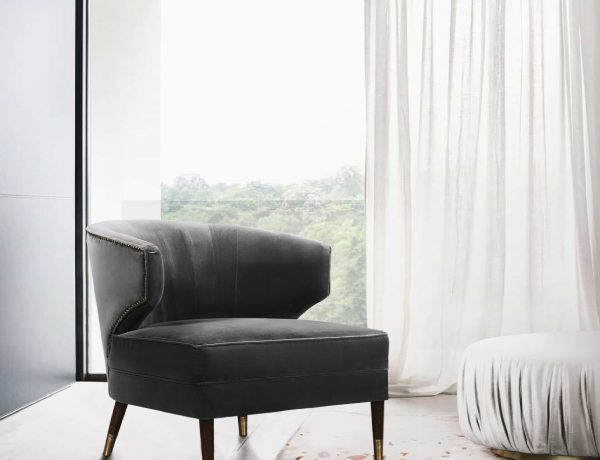 modern armchairs Modern Armchairs That Will Elevate Your Bedroom BB IBIS ARMCHAIR  TERRAZZO Rug  ELLA PUFF 600x460
