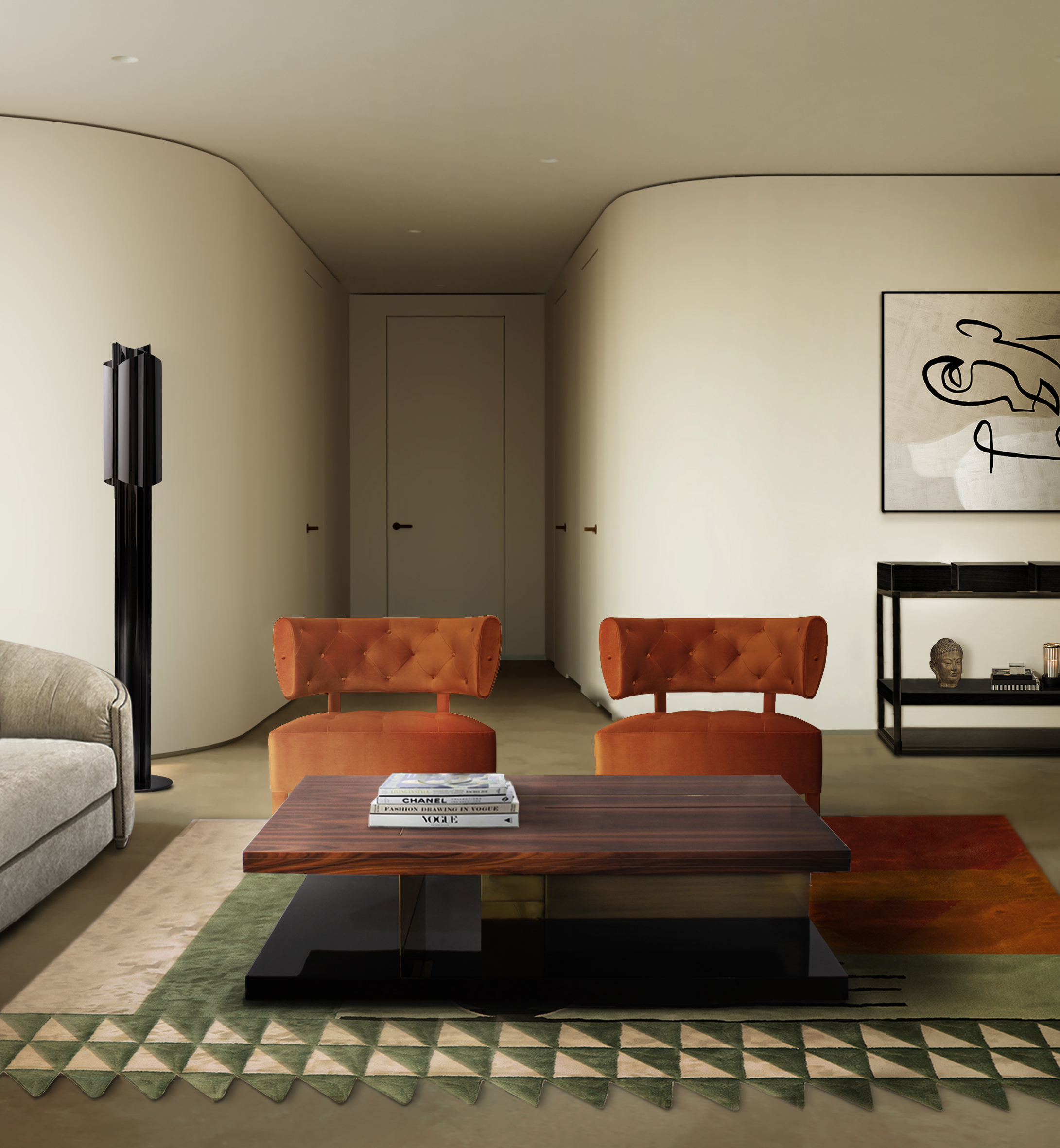 2021 Interior Design Trends  2021 interior design trends 2021 Interior Design Trends BB zullu armchair lallan center table simba rug
