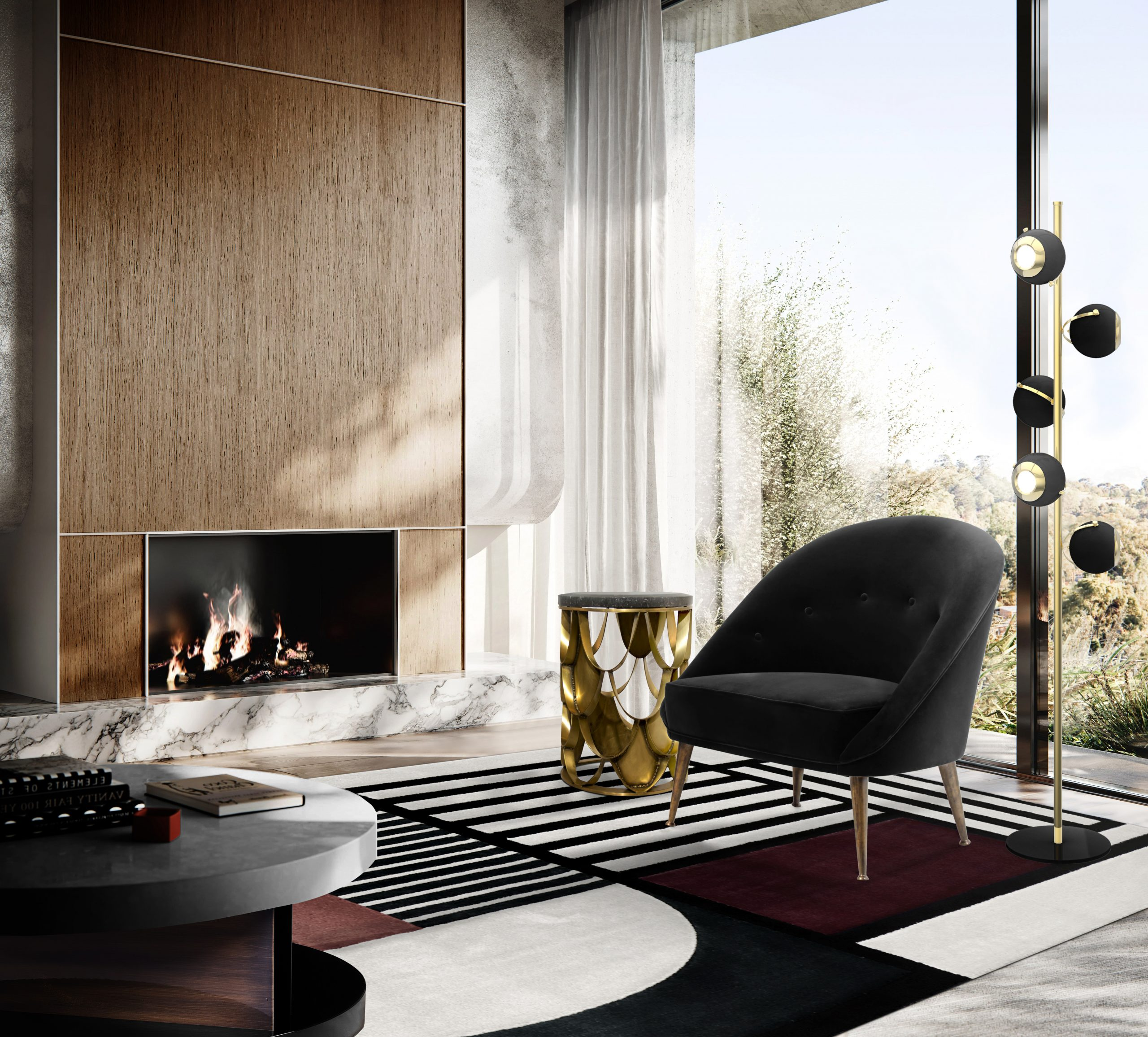 Modern Minimalist Design: Trendy Chairs That Perfectly Suit Your Minimalist Lifestyle modern minimalist Modern Minimalist Design: Chairs That Suit Your Minimalist Lifestyle Malay Armchair e Koi Side Table scaled