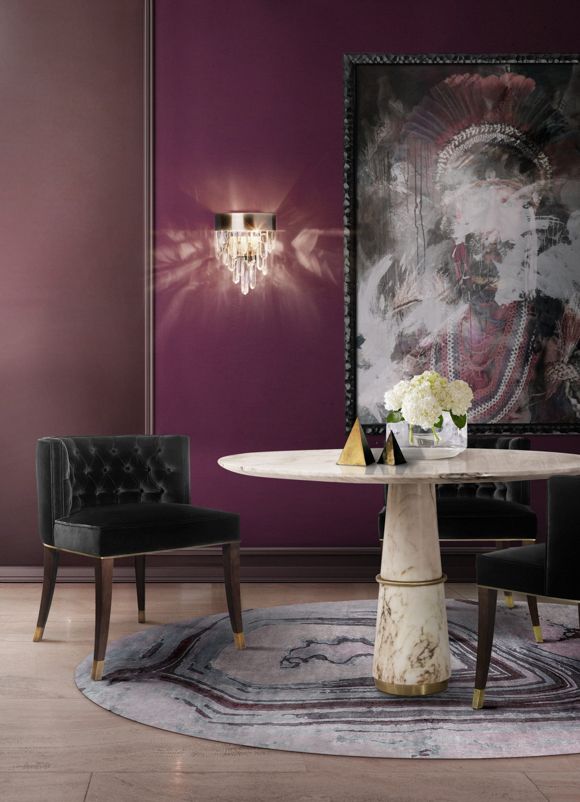 20 Dining Chairs You Will Need For A Modern Dining Room dining chairs 20 Dining Chairs You Will Need For A Modern Dining Room Agra Dining Bourbon Dining Naicca wall scaled