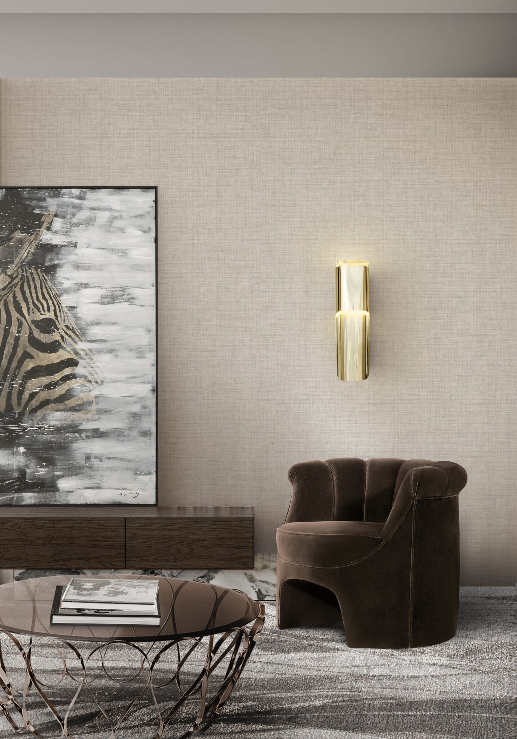 Monochromatic Look: How To Create Modern Rooms With One Colour monochromatic look Monochromatic Look: How To Create Modern Rooms With One Colour BB phong wall light hera armchair scaled