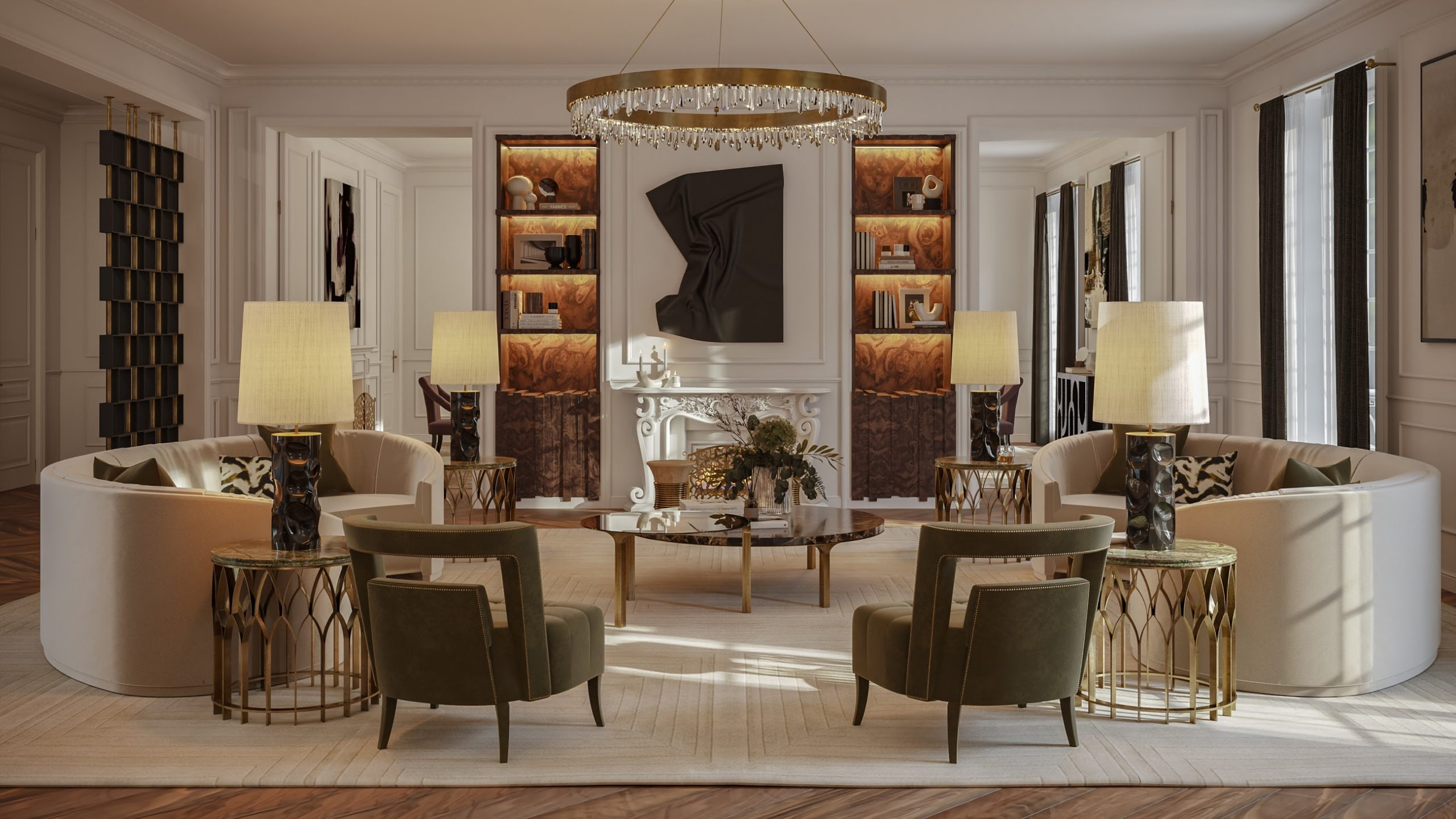"""Contemporary Classic Living Room: Uncover The Oasis Of The """"Éternel"""" Apartment contemporary classic living room Contemporary Classic Living Room: Uncover The Oasis Of The """"Éternel"""" Apartment Contemporary Classic Living Room Uncover The Oasis Of The E  ternel Apartment 2 scaled"""