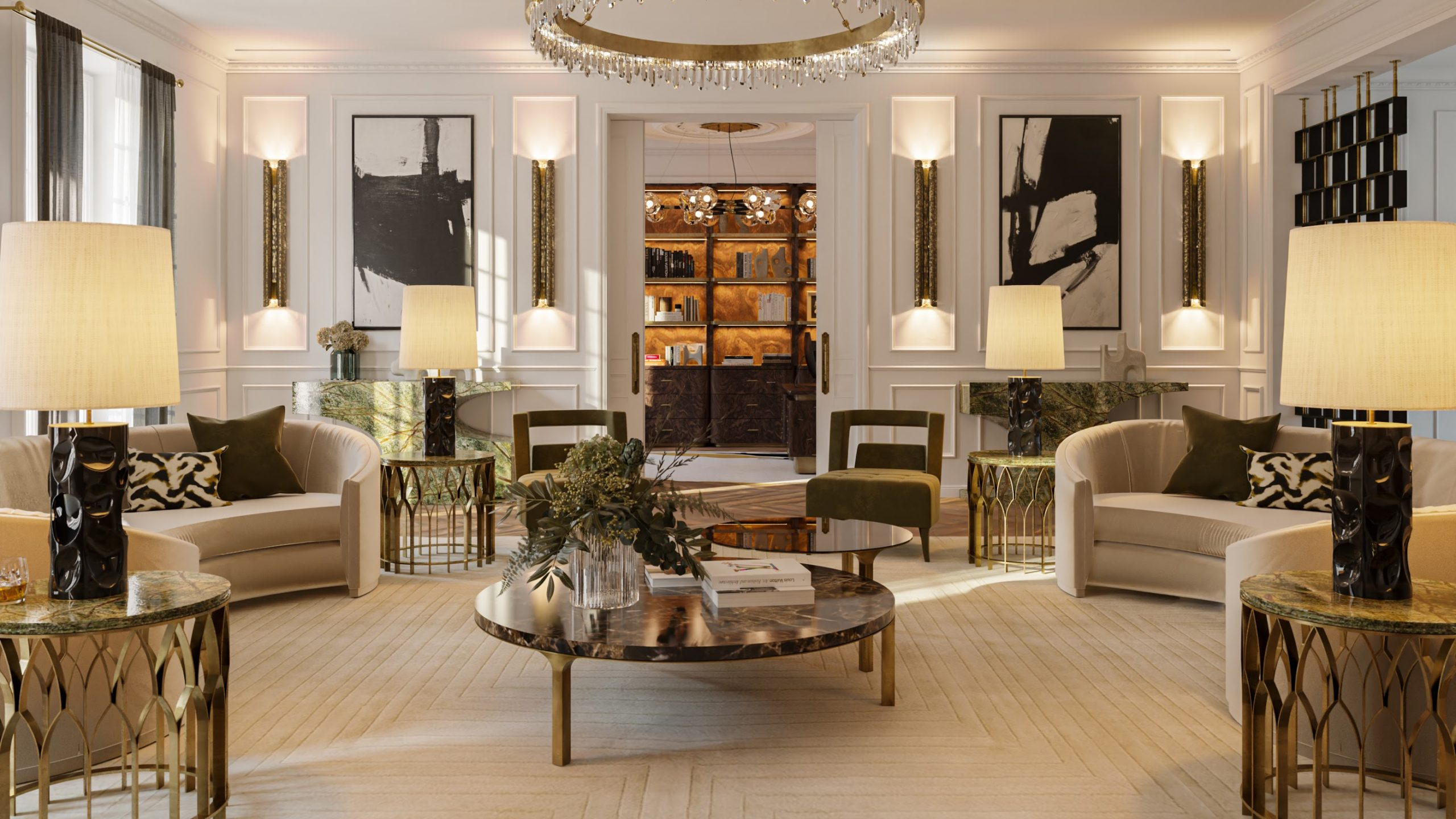 """Contemporary Classic Living Room: Uncover The Oasis Of The """"Éternel"""" Apartment contemporary classic living room Contemporary Classic Living Room: Uncover The Oasis Of The """"Éternel"""" Apartment Contemporary Classic Living Room Uncover The Oasis Of The E  ternel Apartment scaled"""