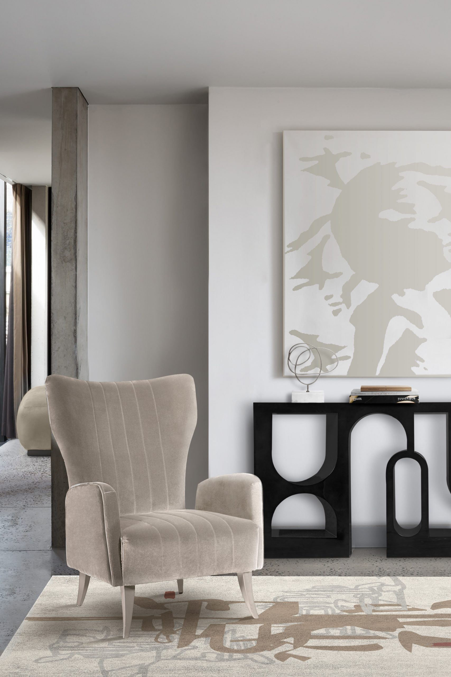 Monochromatic Look: How To Create Modern Rooms With One Colour monochromatic look Monochromatic Look: How To Create Modern Rooms With One Colour davis armchair colloseum console scaled