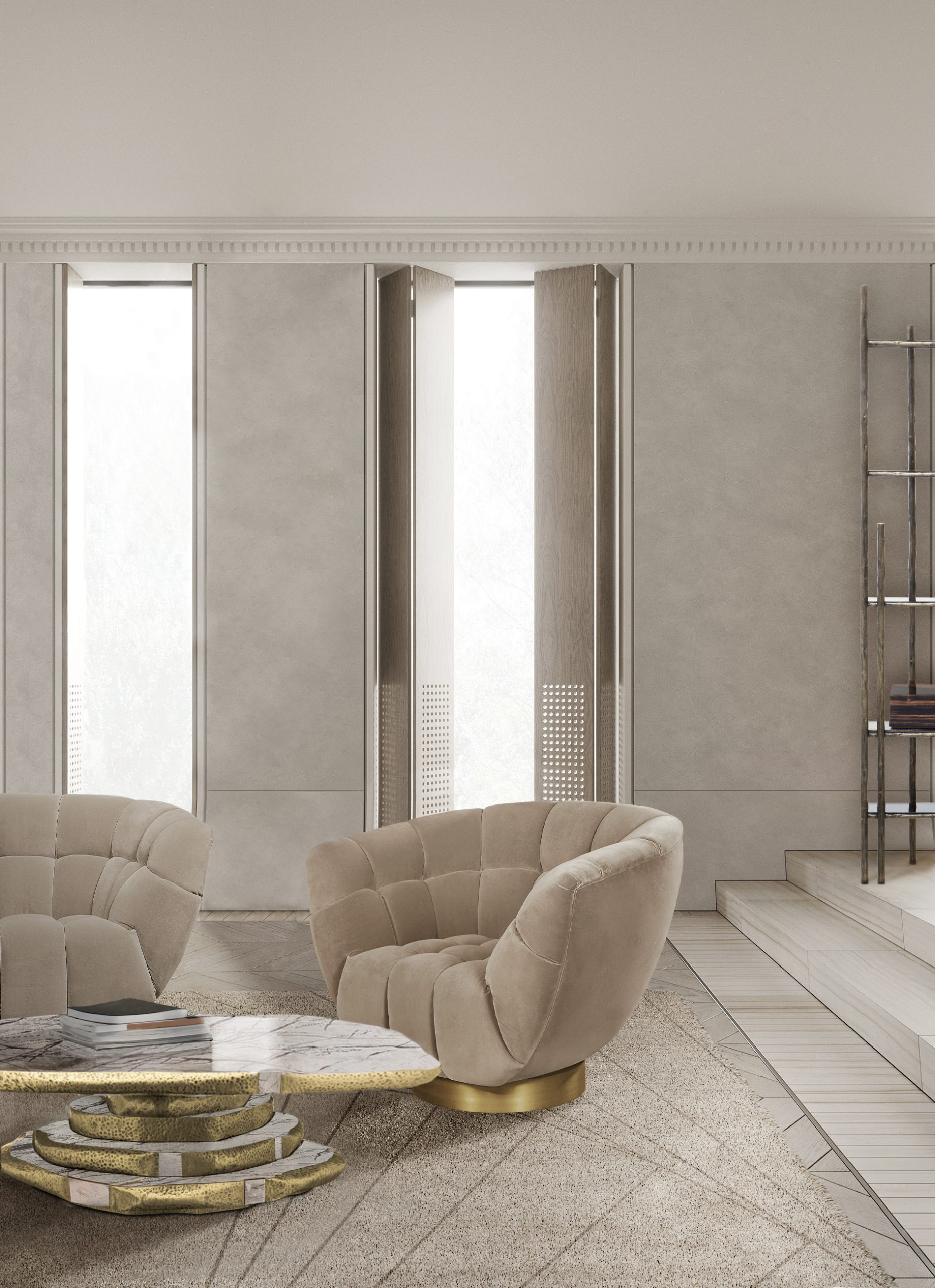 Monochromatic Look: How To Create Modern Rooms With One Colour monochromatic look Monochromatic Look: How To Create Modern Rooms With One Colour essex armchair latza center marble scaled