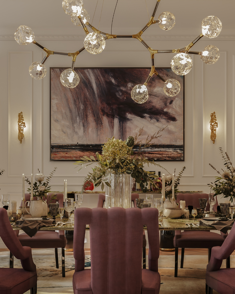 Inspiration for Dining room chairs by Kelly Hoppen